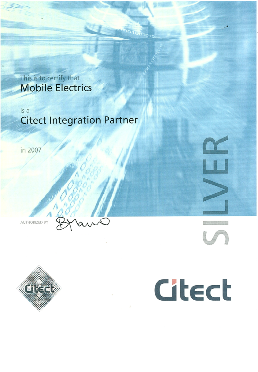 Citect Intergration Partner Cert
