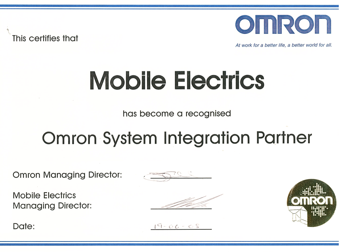 Omron Integration Partner Cert